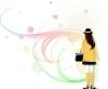 花纹女性图-花纹背景图片