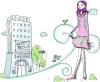 卡通时尚女性图-卡通图片