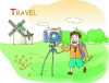 家庭旅游图-家庭图片