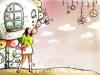 花纹与女孩图-人物图片