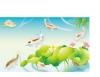 群鱼图片-竹子荷花植物图-节日喜庆图库