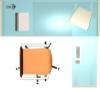 电脑桌椅子组合图片-户型家具图-房地产设计图库