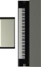 电钢琴图片-户型家具图-房地产设计图库