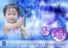 纯真宝贝图片-儿童台历模板图-影楼摄影设计图库