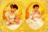 跨页儿童母亲图片-芭比娃娃图-影楼摄影设计图库